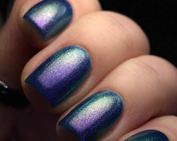 WOW! Signal nail polish blue purple teal green shift chameleon