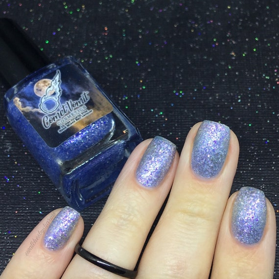 Dashing Through the Solar System nail polish Holiday blue, ice, icy, snow, glitter, shimmer, frozen