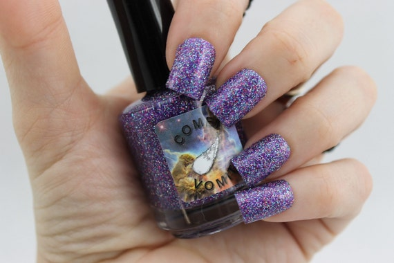 Reach for the Stars glitter Nail Polish by Comet Vomit