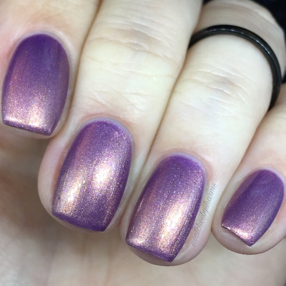 Love in Alderaan Places Nail Polish pink, purple, gold, shimmer, duochrome, multichrome, aura, crystal, nebula