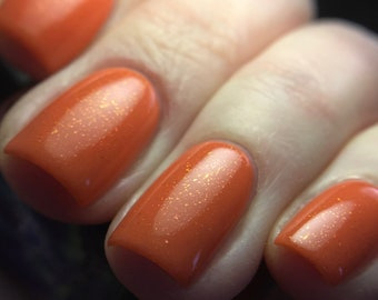 Hot Super Novas in Your Area nail polish salmon peach melon watermelon pink orange flakes flakies