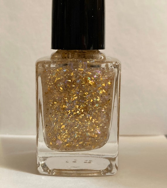 New Years Constellations glitter nail polishes by Comet Vomit gold, glitter, rainbow, shimmer, flakes, flakies, New Years, top coat