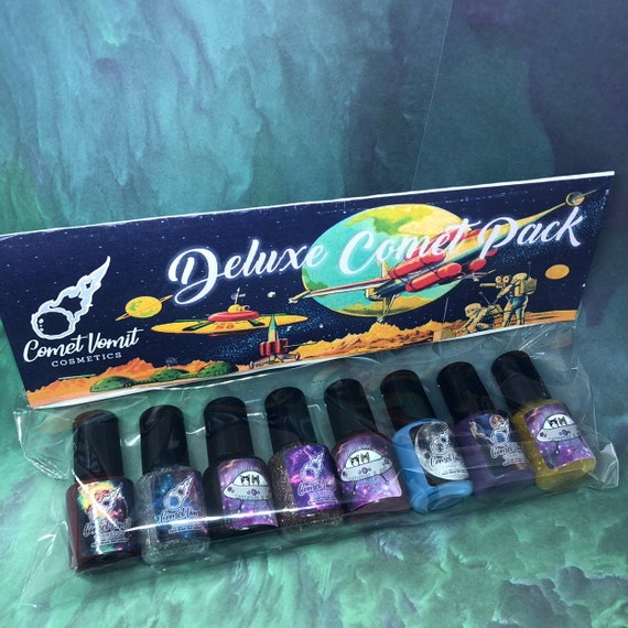 Deluxe 8 mini bottle Create your own Comet Pack indie nail polish set- sampler gift 7ml