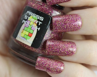 Your Princess is in Another Castle glitter Nail Polish by Comet Vomit Press Start