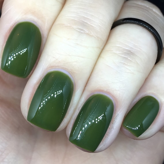 Paranoid Android Nail Polish olive, green, army, cream, neutral, robot, alien