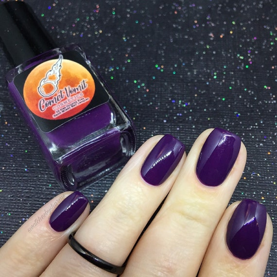 Jingle All the Milky Way nail polish Holiday plum, fig, purple, mauve, cream, opaque