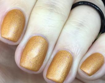Rainy Days on Venus matte orange nail polish fall, pink, glitter, shimmer, fall, satin, suede