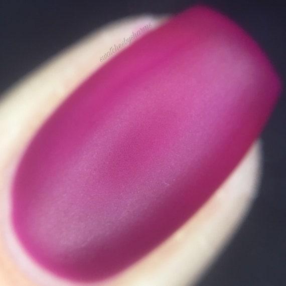 Ultra Violet matte Nail Polish by Comet Vomit pink, purple, space, suede, vegan, botany, plants, spring, summer, self care