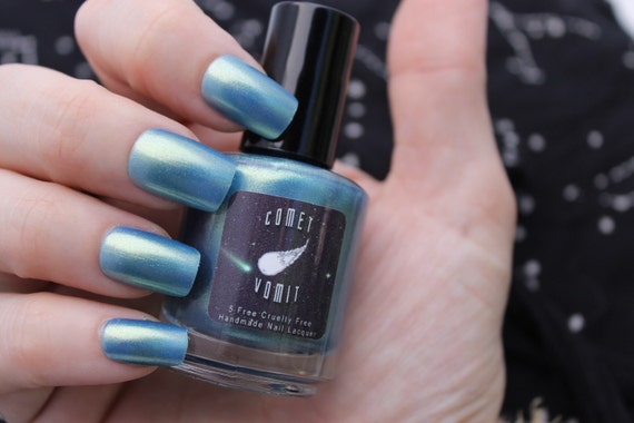 Oceans of Enceladus nail polish by Comet Vomit