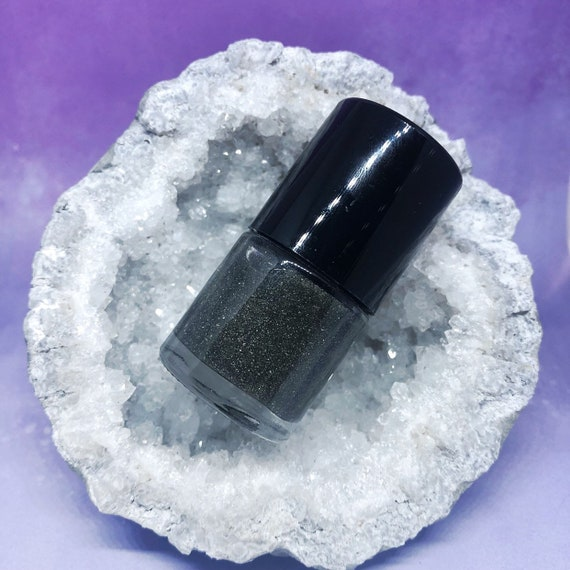 Pyrite crushed mineral powder top coat nail polish star stuff vegan crystals