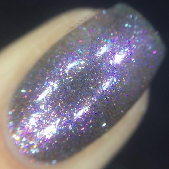 Stellar Nursery Nail Polish by Comet Vomit pink, blue, purple, pastel, shimmer, shifting
