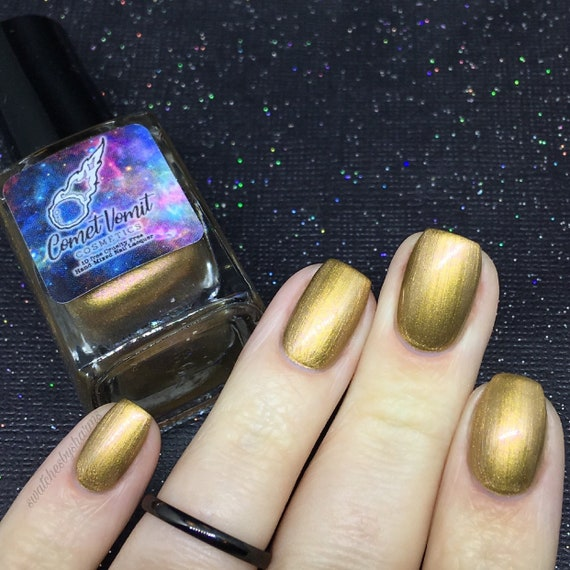 Planetary and Bright nail polish Holiday gold, rose gold, pink, shifting, metallic