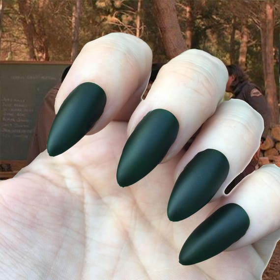 Tibeten Rocks and Bottles- Dale Cooper- Twin Peaks- Matte Chalk Board Green Polish