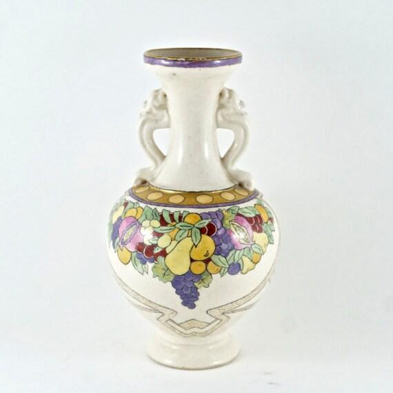 J V Cook Pottery Vase Deco Flower Fruit Vase No00136