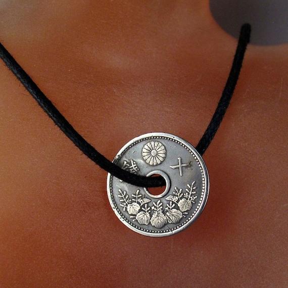 Antike Japanische Halskette Japanische Münze Schmuck Etsy