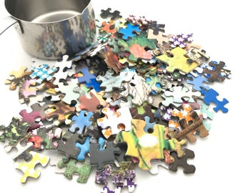 Bulk Jigsaw puzzle pieces. purchase by the cup