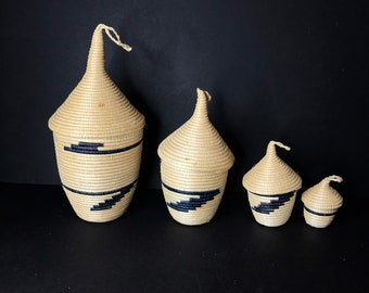 Nesting Tutsi Baskets - Rwanda Basket - African Basket - Tribal Basket -  Africa - Partsforyou Etsy No.50 cs
