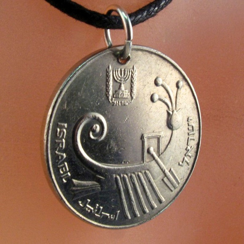 mens coin pendant jewelry boat coin necklace heod archelaus ISRAEL NECKLACE israeli shekel  No.001194
