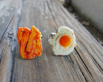 Mens Unique Cuff links Dad Gift Cufflinks Accessories For Him Dad Bacon and Eggs Father Gift Etsy Dudes Boyfriend Present Brother Guys