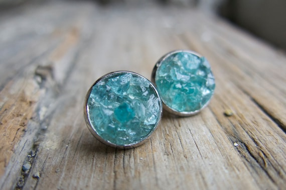 Raw aquamarine silver earrings March birthstone Ocean blue gemstone Earrings AQUAMARINE TRIO Sterling Silver earrings Fine jewelry.