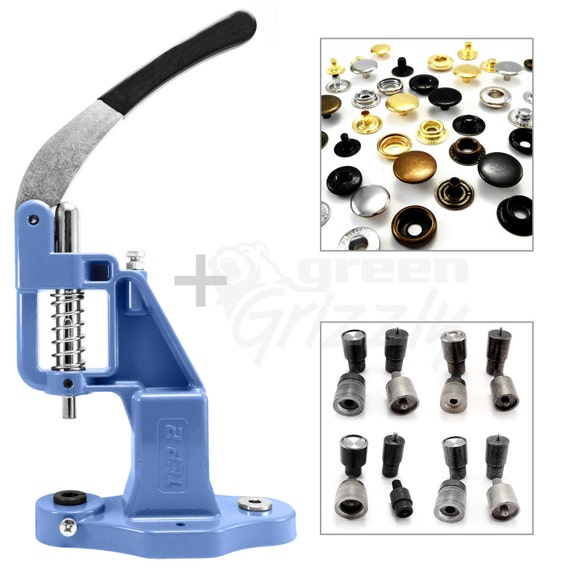 Green Grizzly hand press for eyelets rivets press fasteners S020 Pack 19 tools
