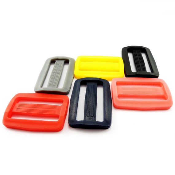 clips sliders sangle 25mm Black plastic side release buckles boucle delrin