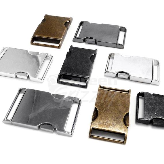 5X 15//20//25mm Metal Buckle Webbing Strap Bag Fastener Side Release Clasp Clip UK
