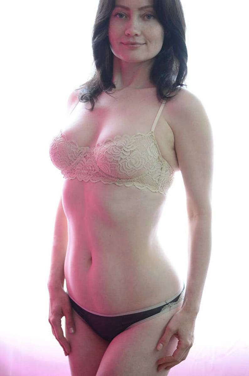 Women Sleepwear /& Intimates Bras The Lacey Floral Nude Underwire Bra MADE TO ORDER