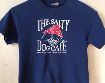 1989 The Salty Dog Hilton Head Island kids t shirt 083361fab