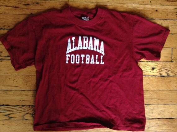 Vintage NCAA Alabama Crimson Tide Football t shirt youth large USA
