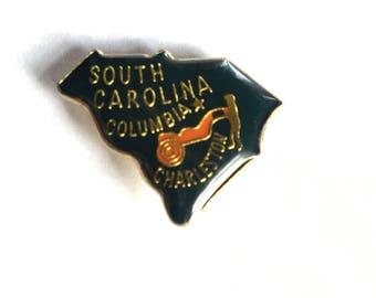 Vintage South Carolina enamel pin