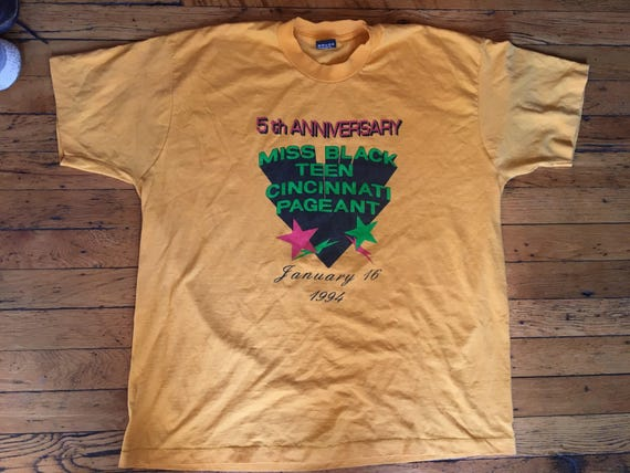 1994 Miss Black Teen Cincinnati Pageant t shirt USA xxl