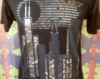 1980's Downtown Chicago t shirt USA L