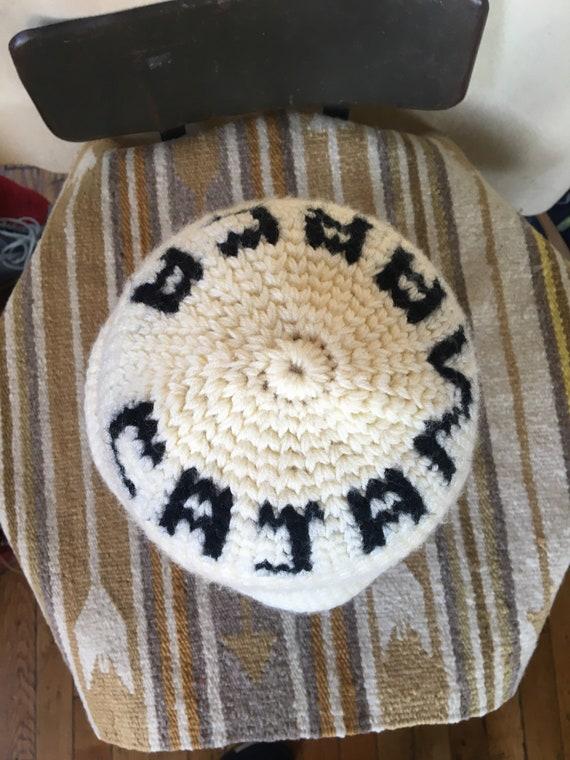 Vintage hand knit Cajamarca Peru hat beanie