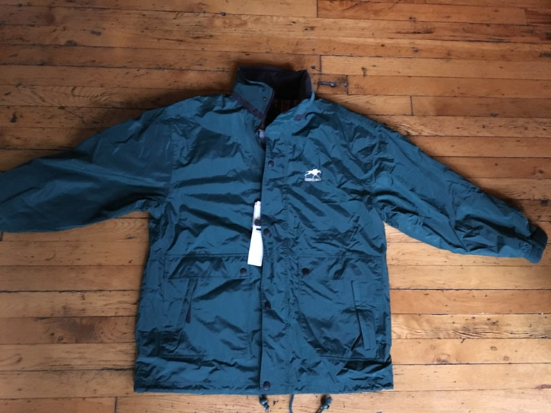 Vintage Keeneland race track waterproof jacket large