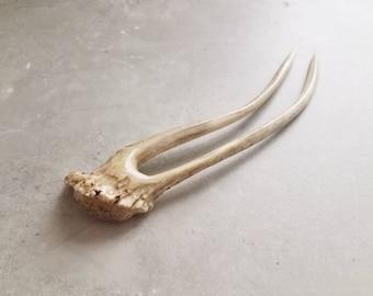 Hair Pin Deer Antler Horn Hair Fork Woodland Viking Hair Bun Pick