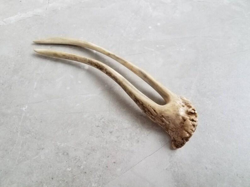 Hair Fork Genuine Deer Antler Large Horn Hair Stick Pin