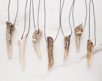 Antler Tip Necklace Deer Horn Boho Bohemian Jewelry