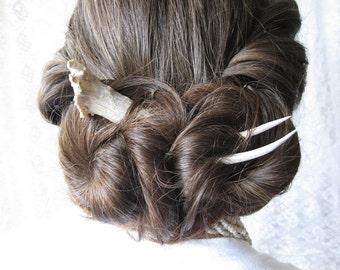 Hair Stick Pin Deer Antler Horn Hair Fork Woodland Viking Hair Bun Pick