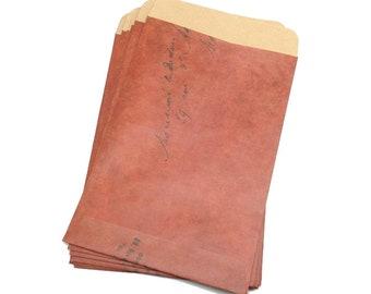 Vintage Style Kraft Envelopes, Set of 12