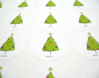 Christmas Stickers Christmas Seals Holiday Stickers Christmas Envelope Seal One Inch Stickers Christmas Craft Supplies Set Of 63