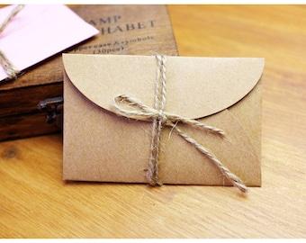 Mini Kraft Envelopes, Kraft Envelope, Business Card Holder, Gift Card Holder - Set of 25