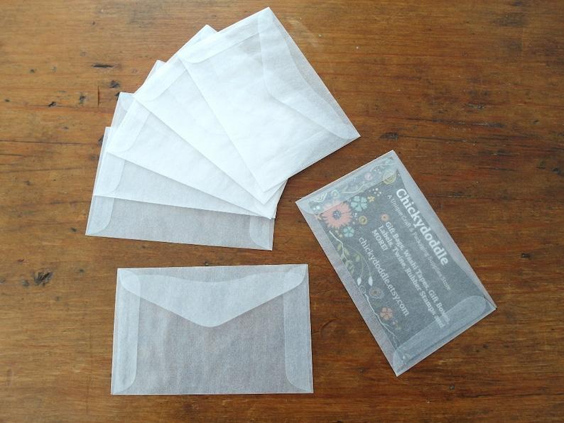 Glassine Mini Enveloppes Carte De Visite Enveloppe Ensemble