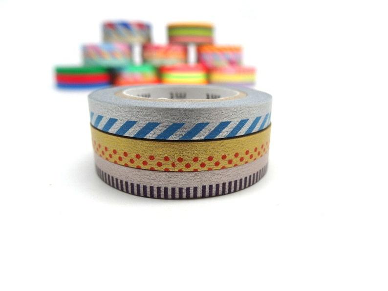 MT Slim Deco C Washi Tape Set Metallic Washi Tape Set
