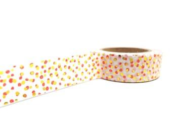 Red and Gold Washi Tape, Metallic Gold Polka Dot Washi Tape