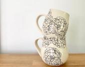 Handmade ROSE mug