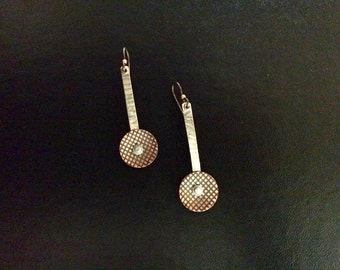 Handmade Mixed Metal Dangle Earrings