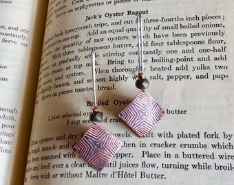 Antique Copper and Silver Dangle Earrings