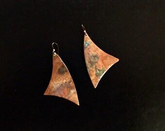 Handmade Flame Painted oppression Earrings