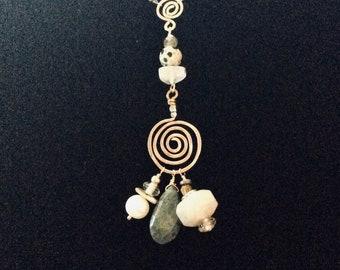 Handmade Gold Lariat Necklace